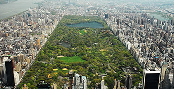 Central Park Aerial Looking North