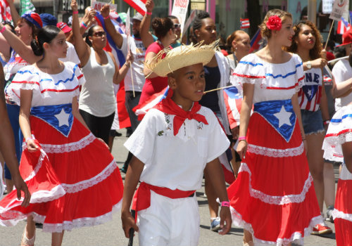 Puerto Rican Parade - Youth walking