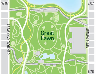 Great Lawn Map