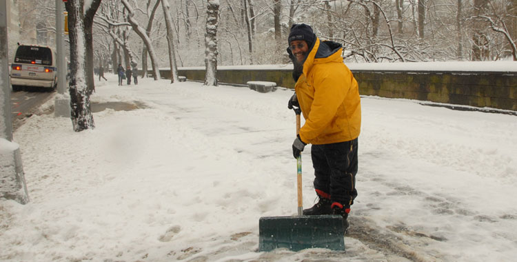 Winter shoveling