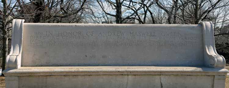 Andrew Haswell Green bench