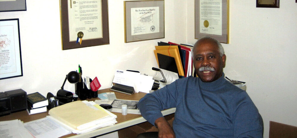 Cal Jones sitting in his office