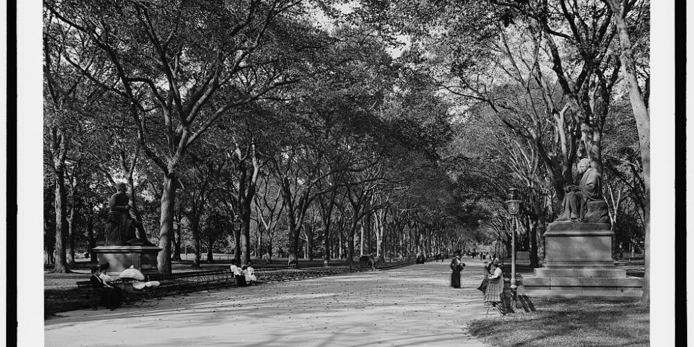 The Mall historic photo Central Park