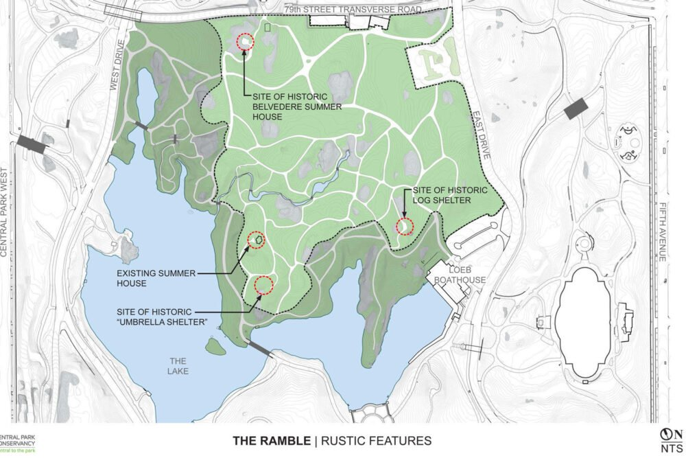 Central Park Ramble Rustic Features Forever Green credit Central Park Conservancy