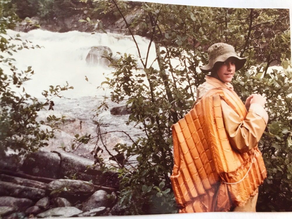 Florence as a child in the Canadian wilderness
