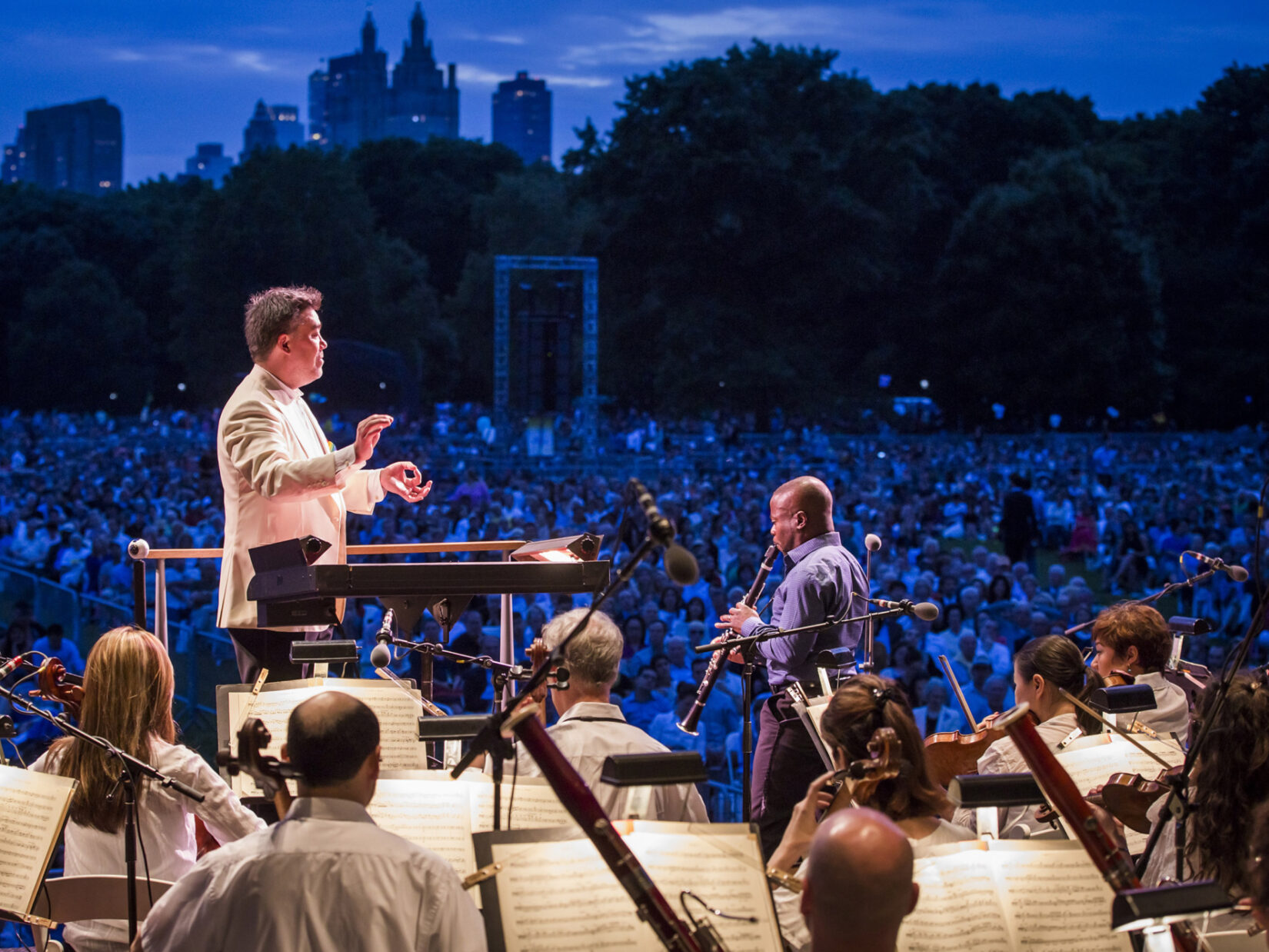 McGill soloing with the Philharmonic at Central Park
