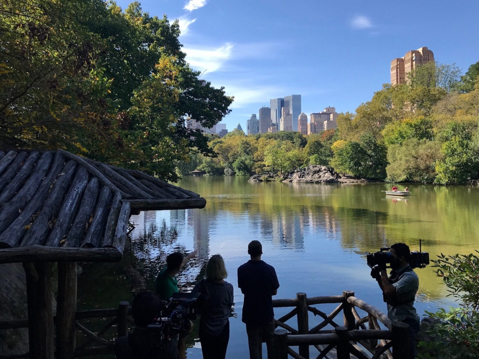 """Somebody Feed Phil"" filming in Central Park"