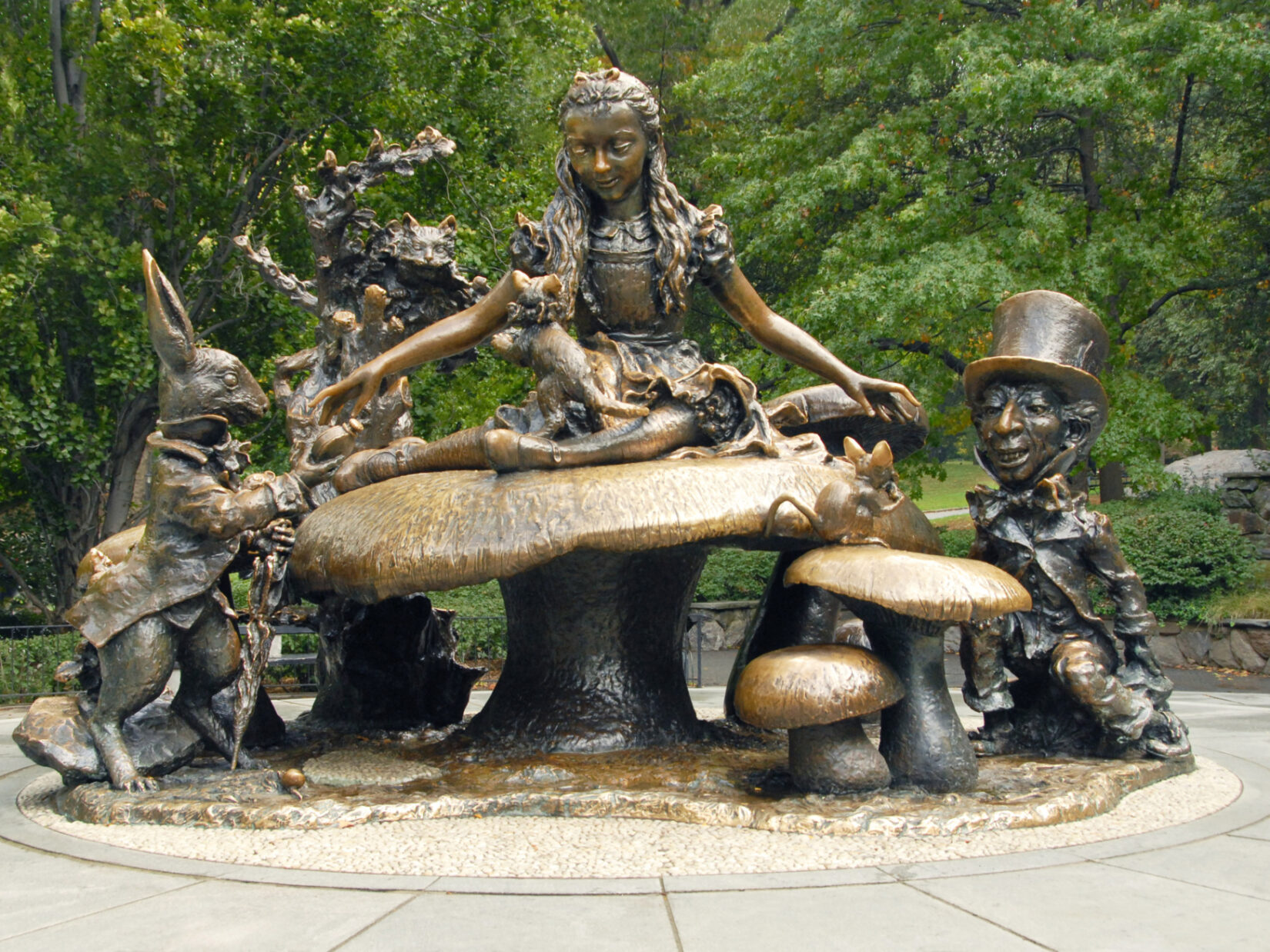 Alice in Wonderland Statue Central Park credit the Central Park Conservancy
