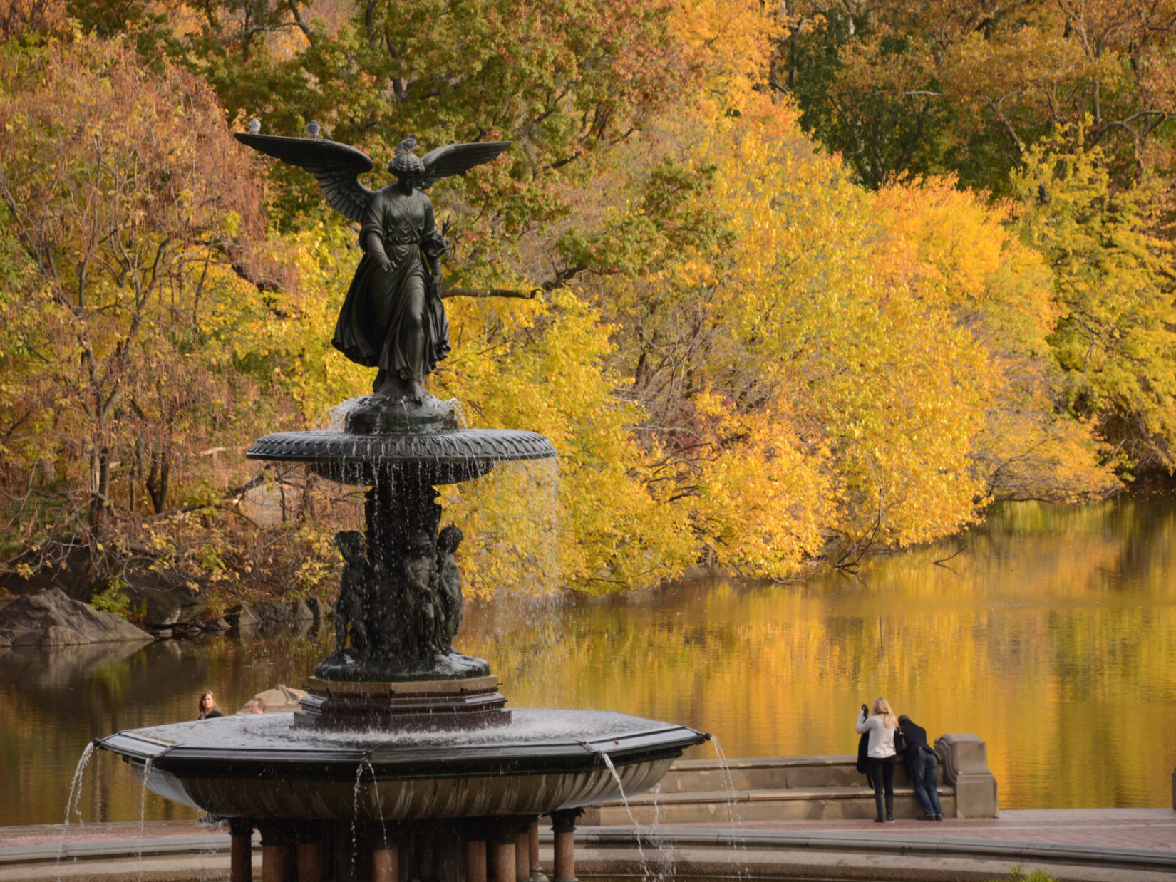 Bethesda Fountain Central Park credit the Central Park Conservancy