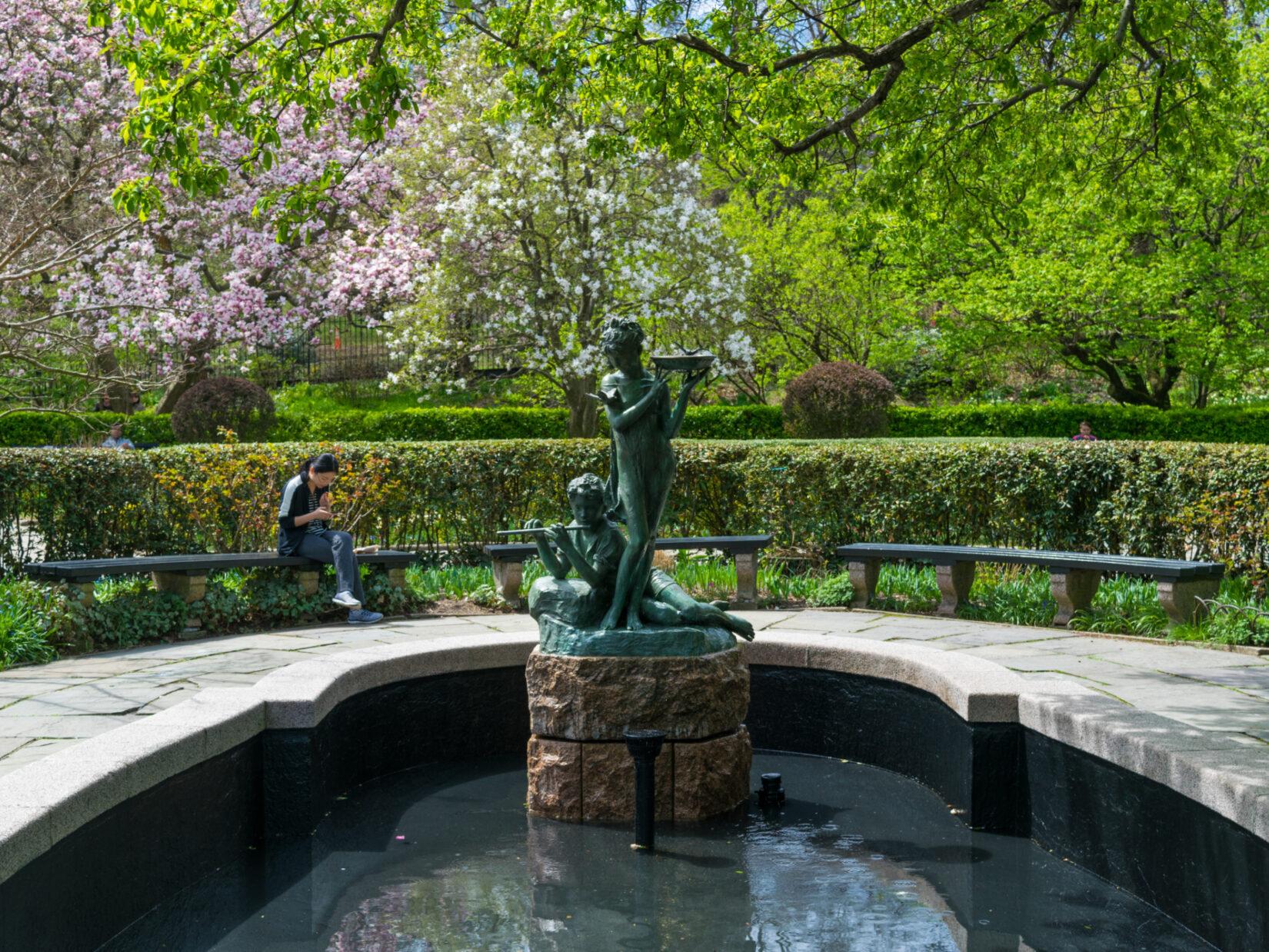 Burnett Fountain at Conservatory Garden