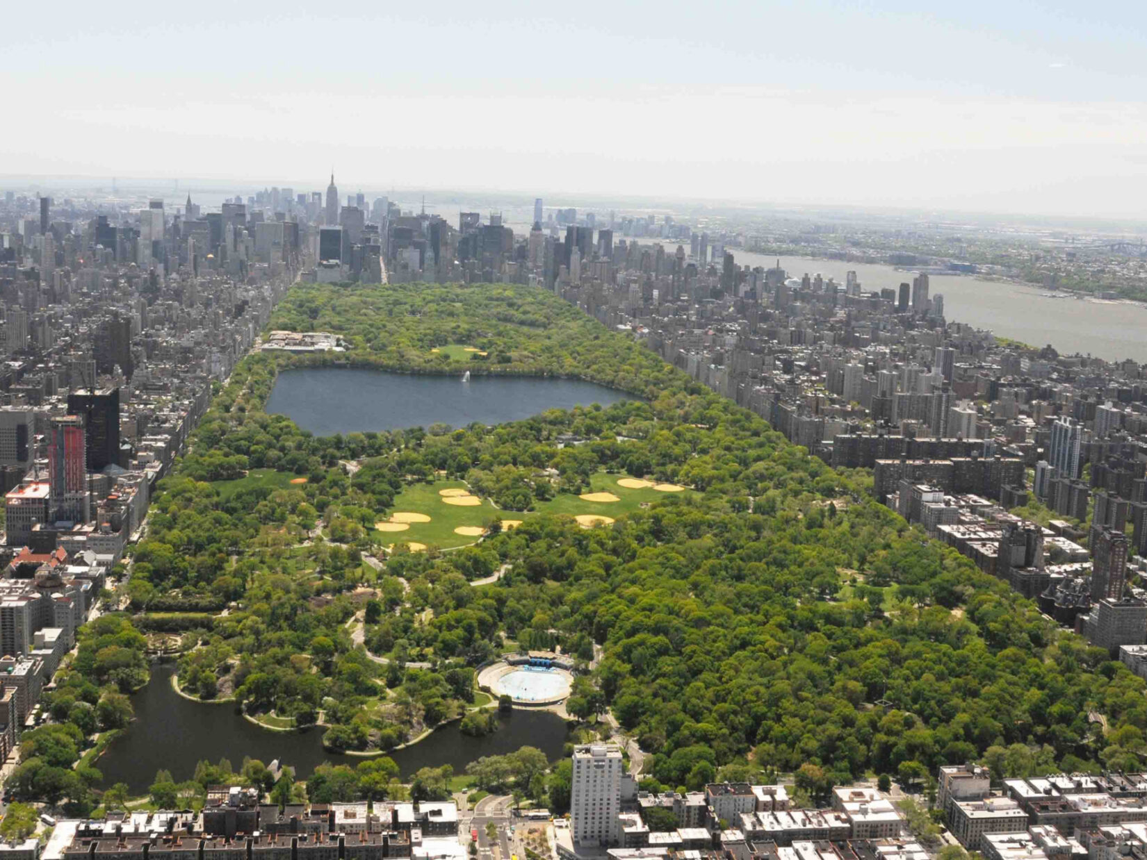 Central Park Aerial looking south credit the Central Park Conservancy