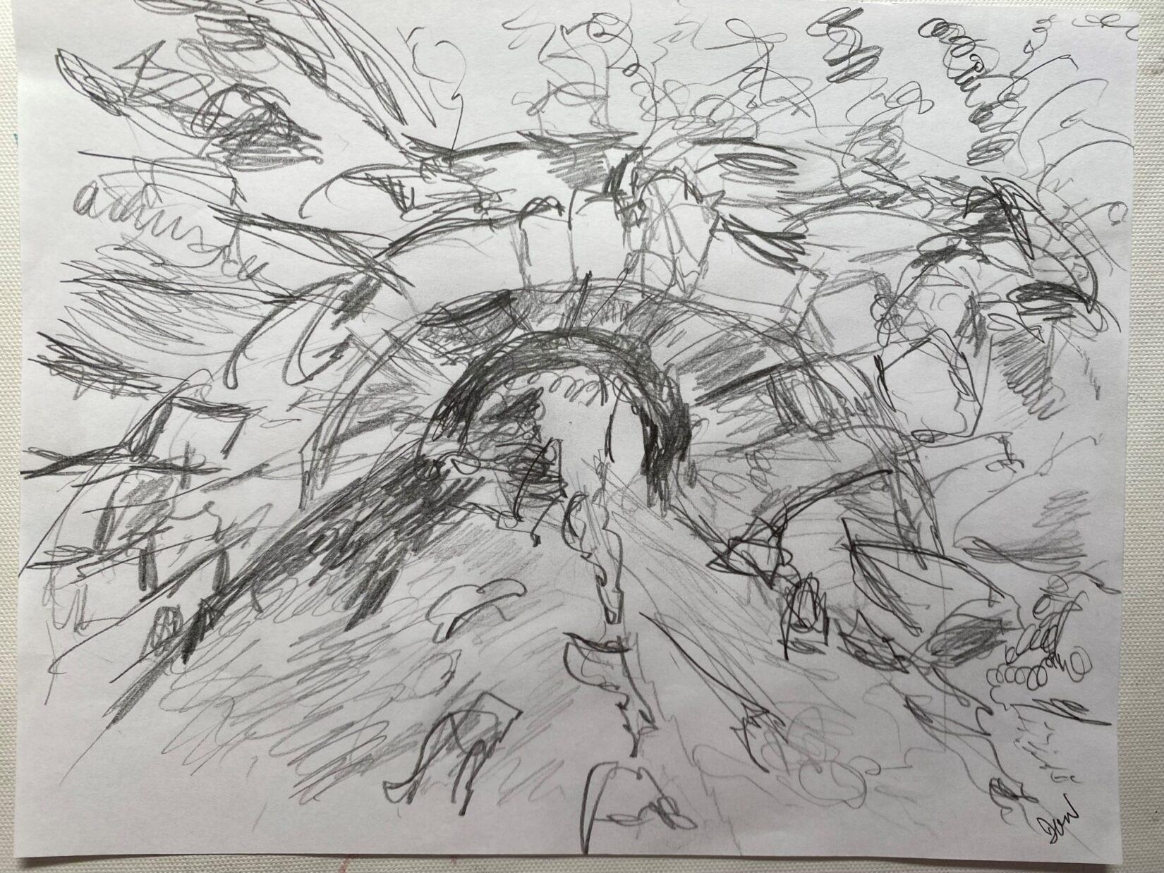 "Deborah Grace Winer: ""Huddlestone Arch"" (Pencil)"
