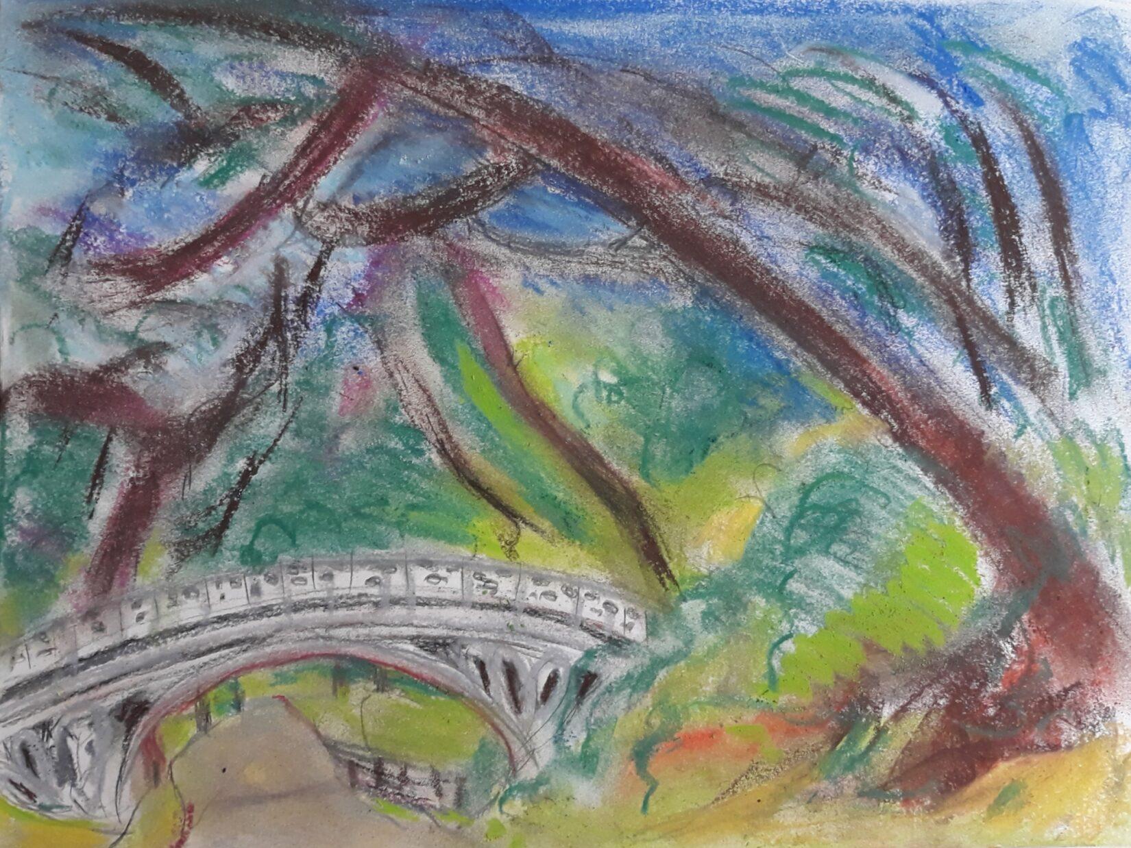Pastel rendering of the Gothic Bridge
