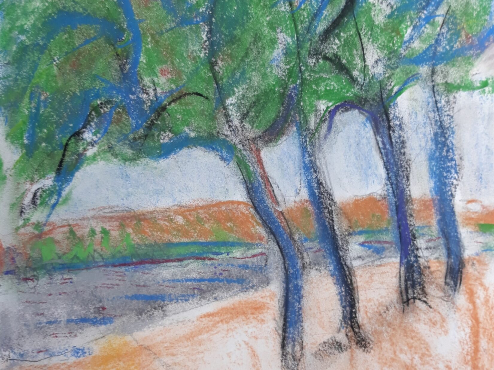 """Ellen Pliskin: """"Pathway"""" (Pastel)"""