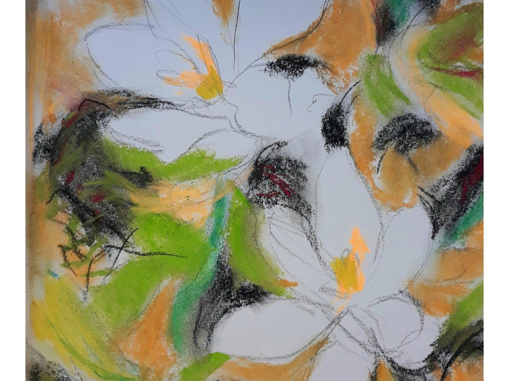"Ellen Pliskin: ""Shakespeare Garden"" (Pastel)"
