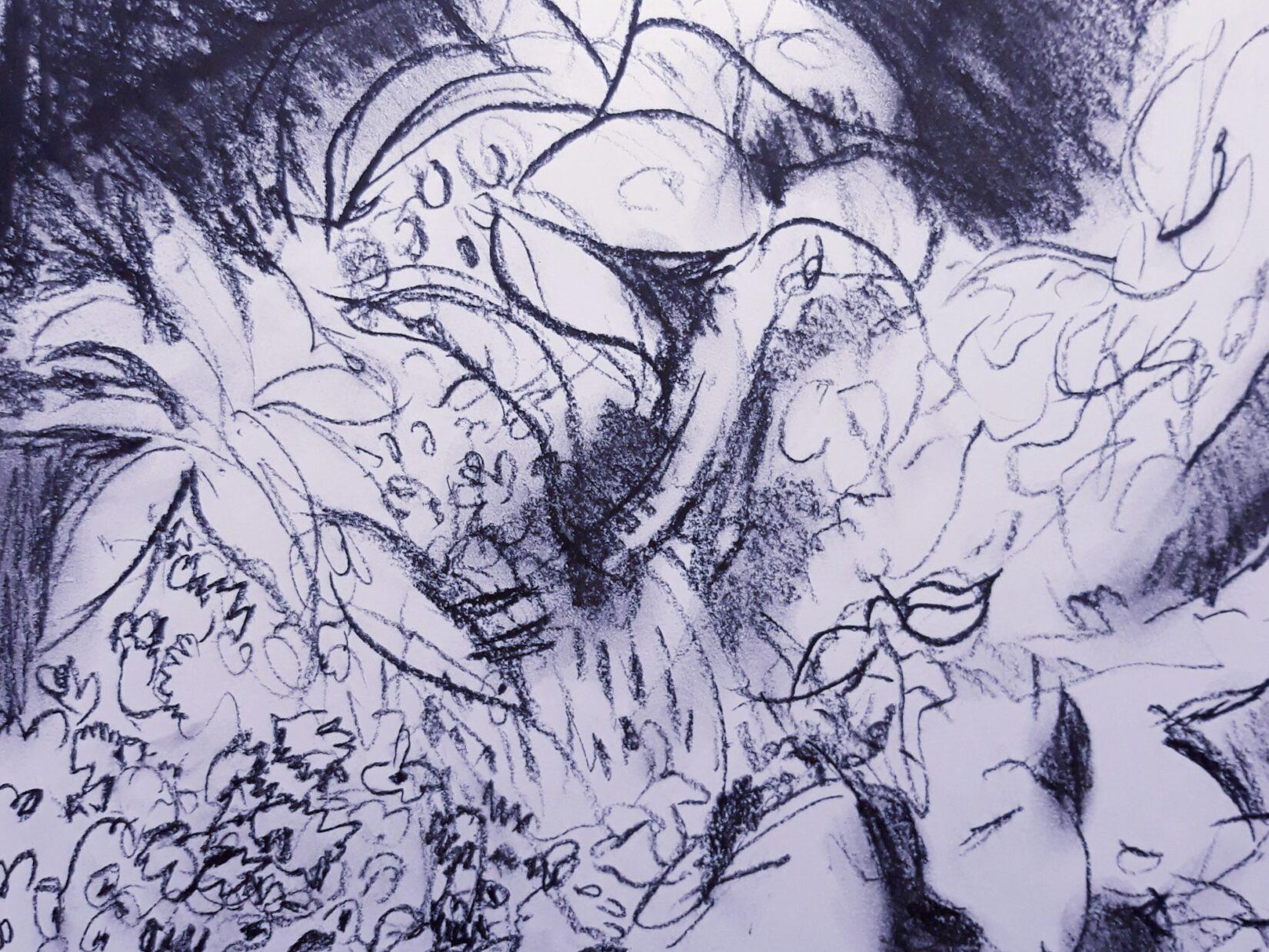"Ellen Pliskin: ""Shakespeare Garden"" (Charcoal)"