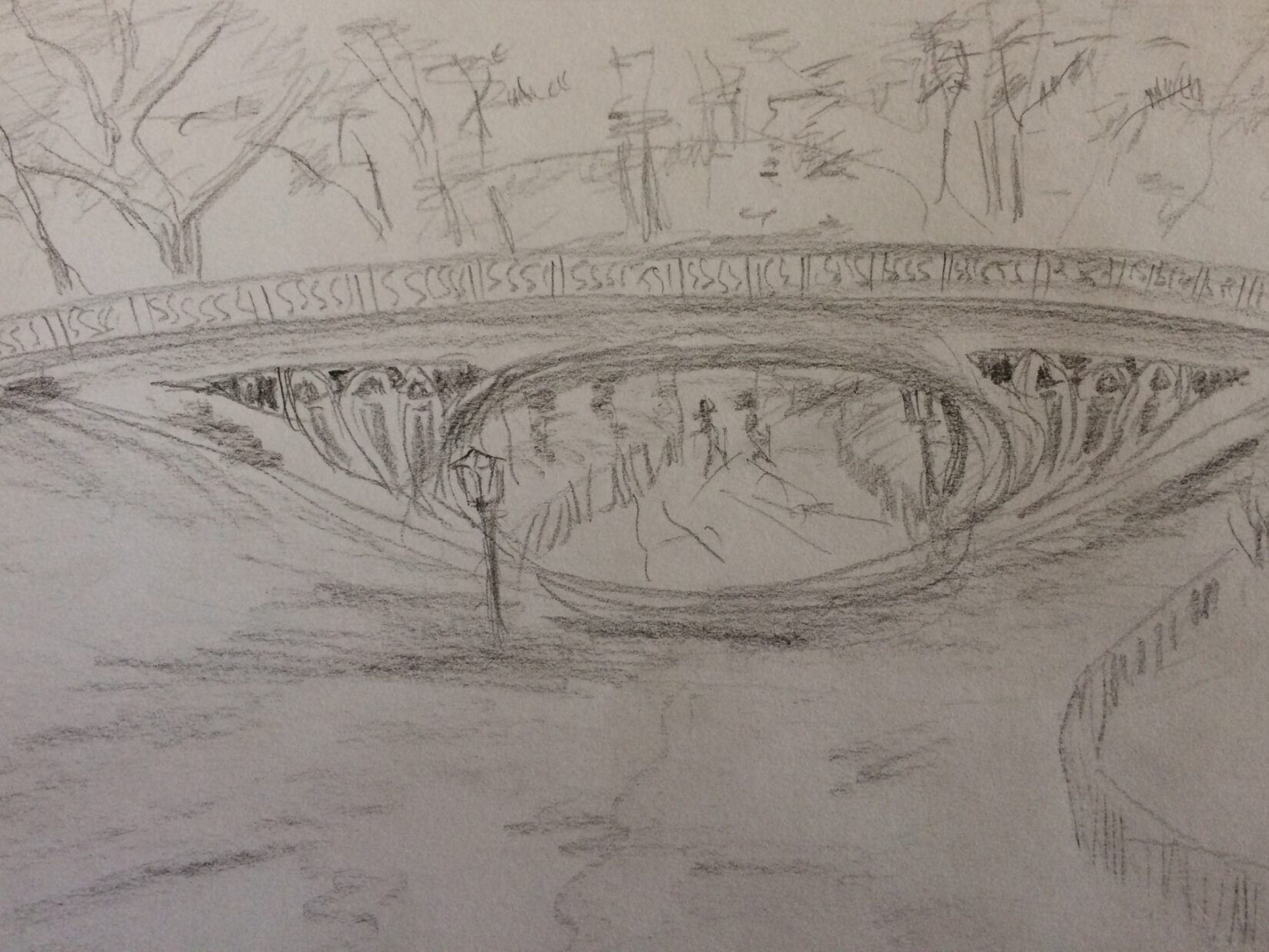 Drawing of the Gothic Bridge
