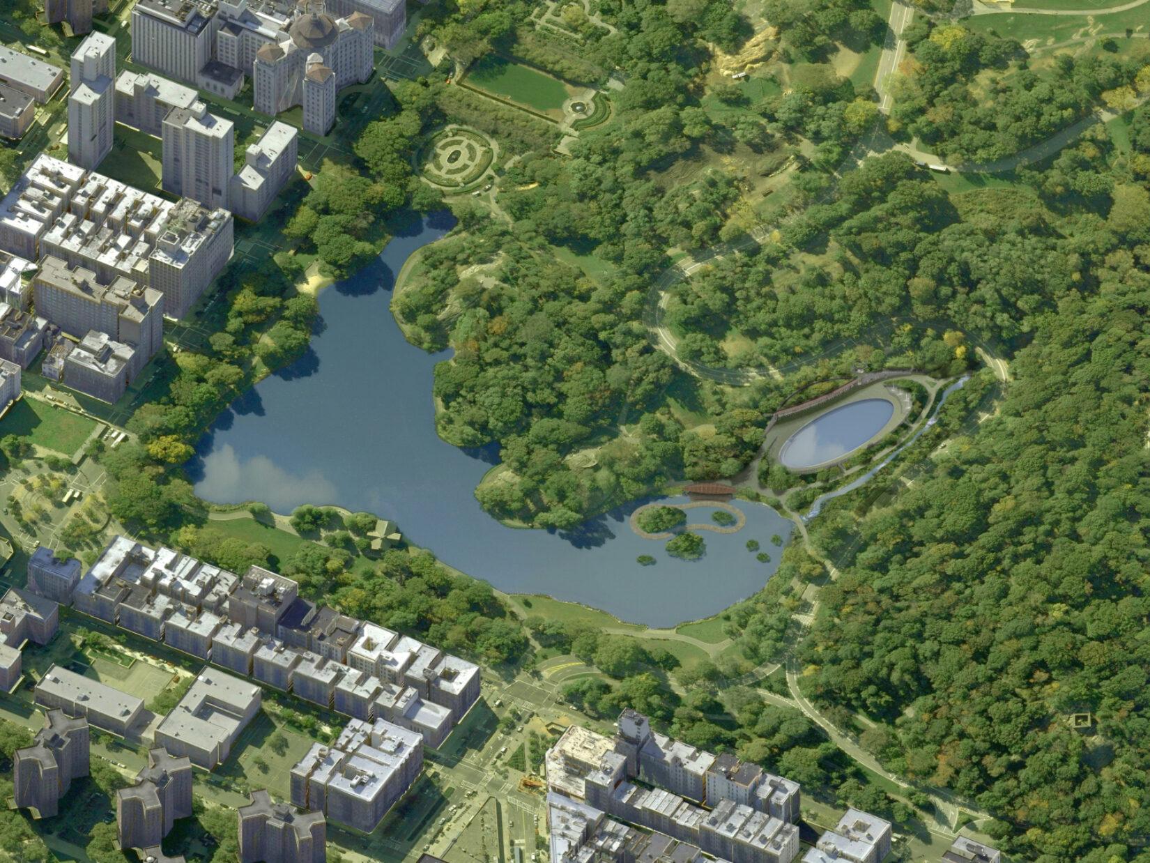 Harlem Meer Aerial Rendering Proposed STR