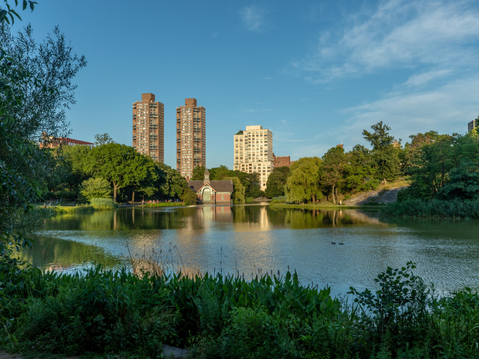 The Harlem Meer on a sunny day