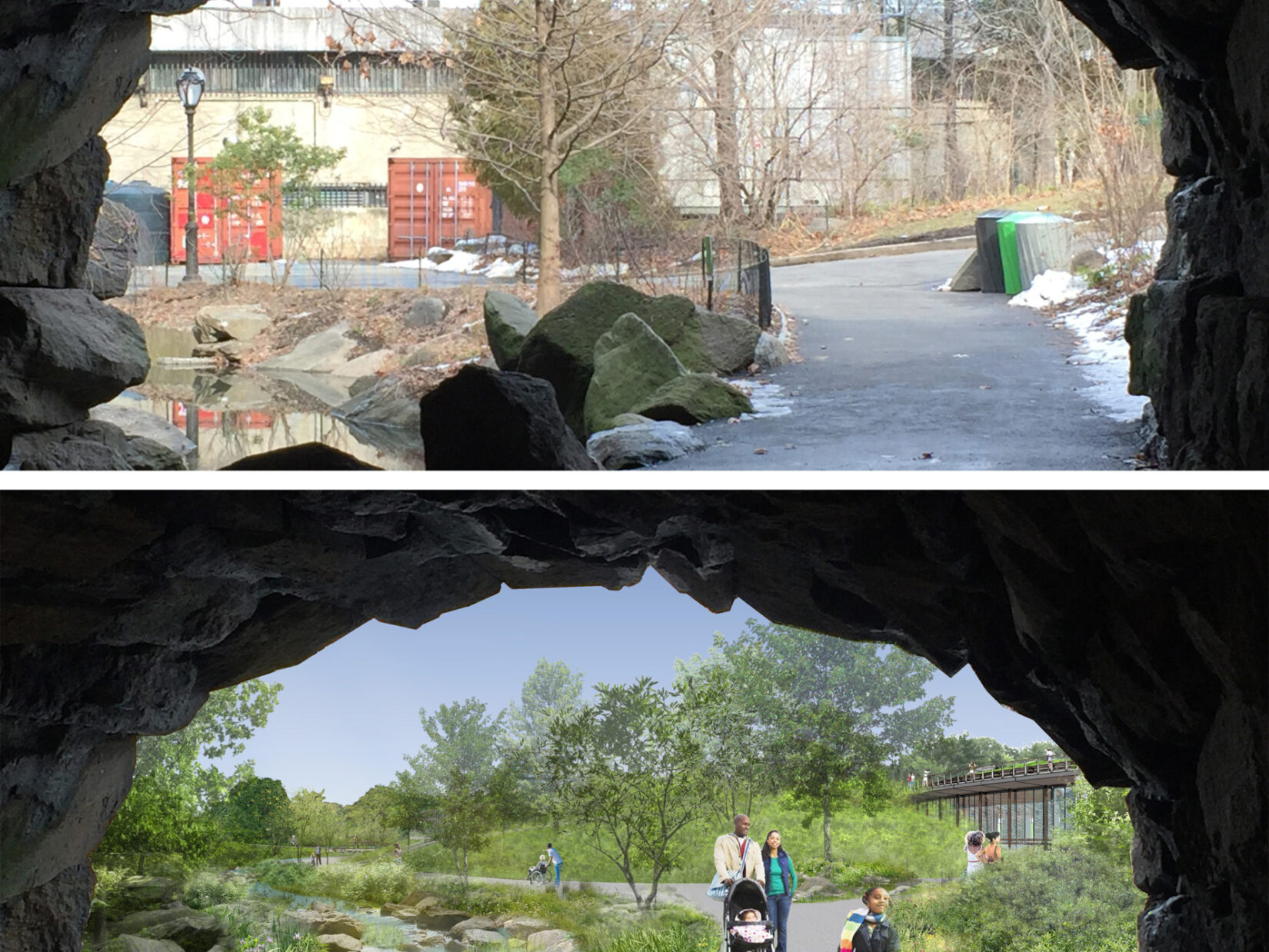 Huddlestone Arch Before After