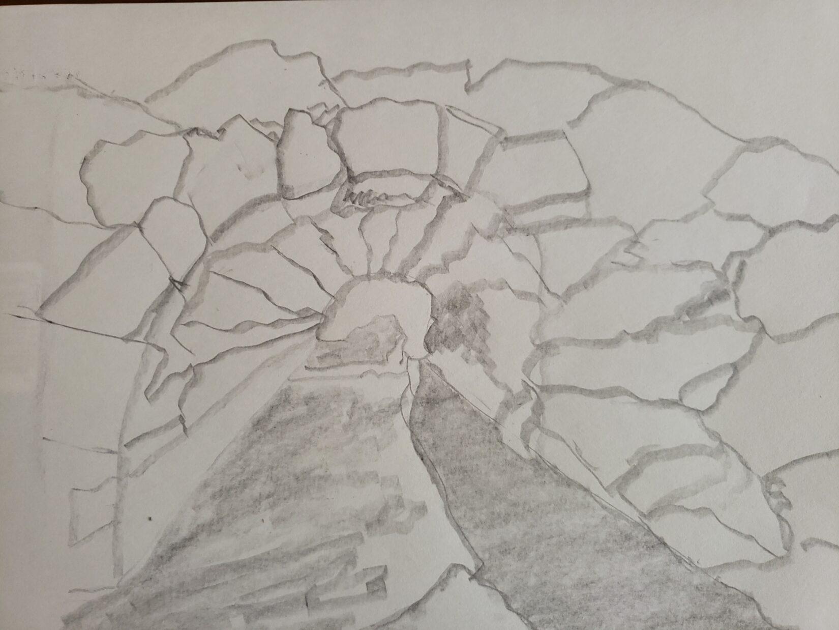 "Jann Gates: ""Huddlestone Arch"" (Pencil)"