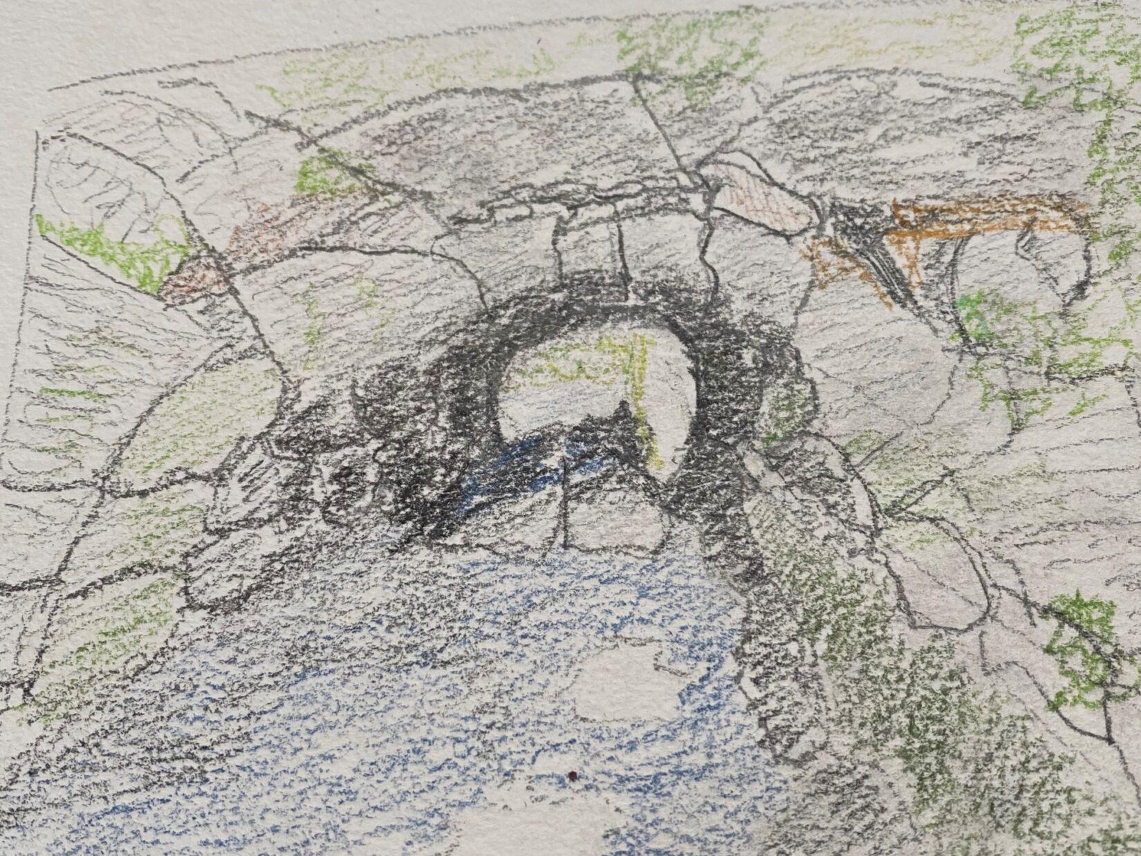 "Karen Linnea Searle: ""Huddlestone Arch"" (Colored Pencil)"