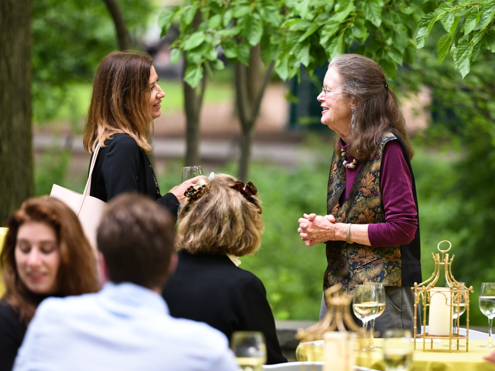 Park supporters at an event in Shakespeare Garden
