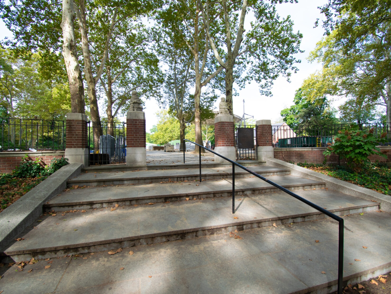 A view up the steps to the entrance of the Rumsey Playfield