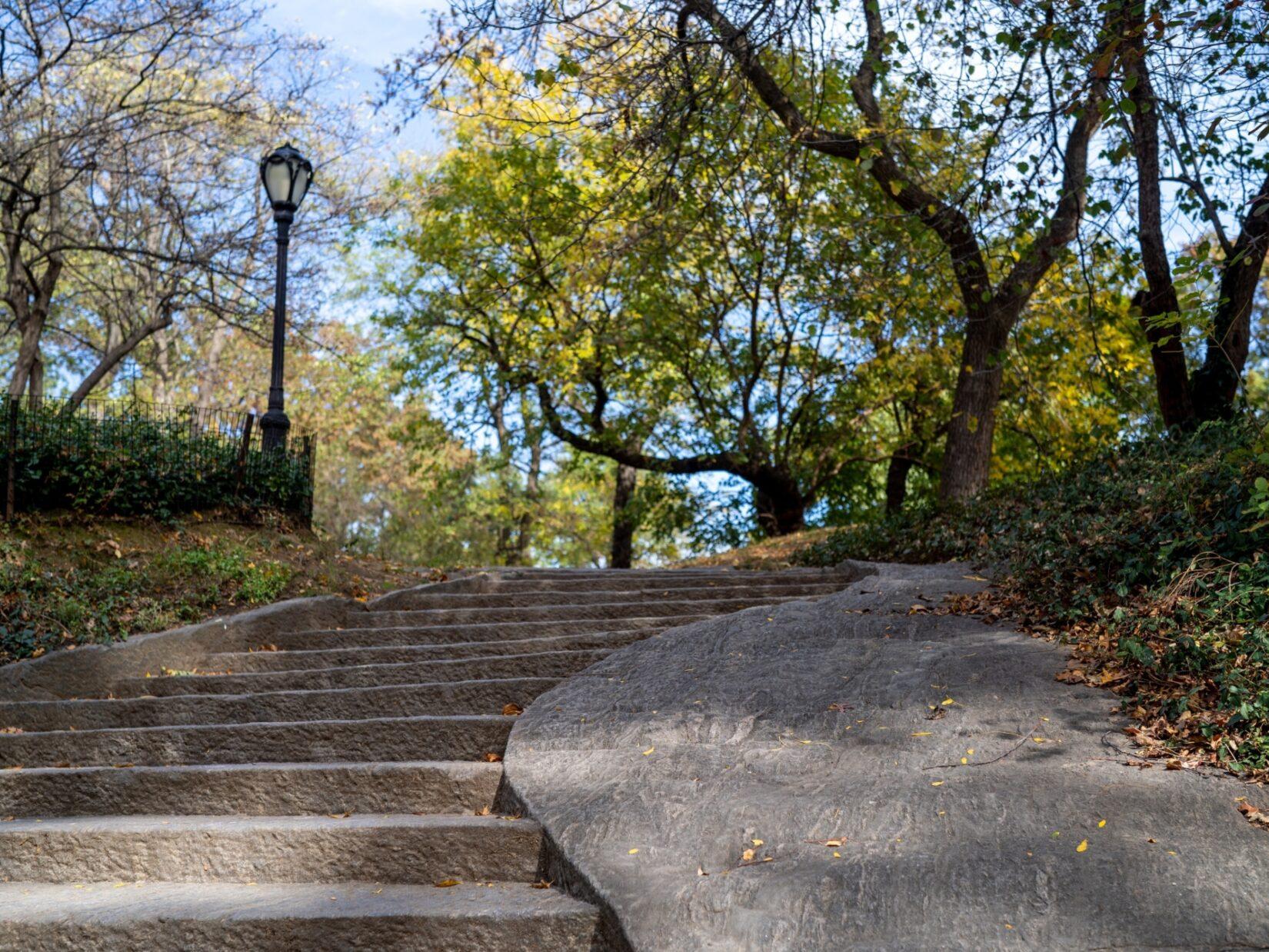 Stone steps climbing Summit Rock