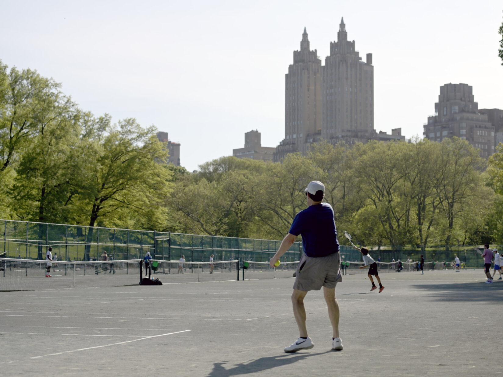 Players at the Central Park Tennis Center