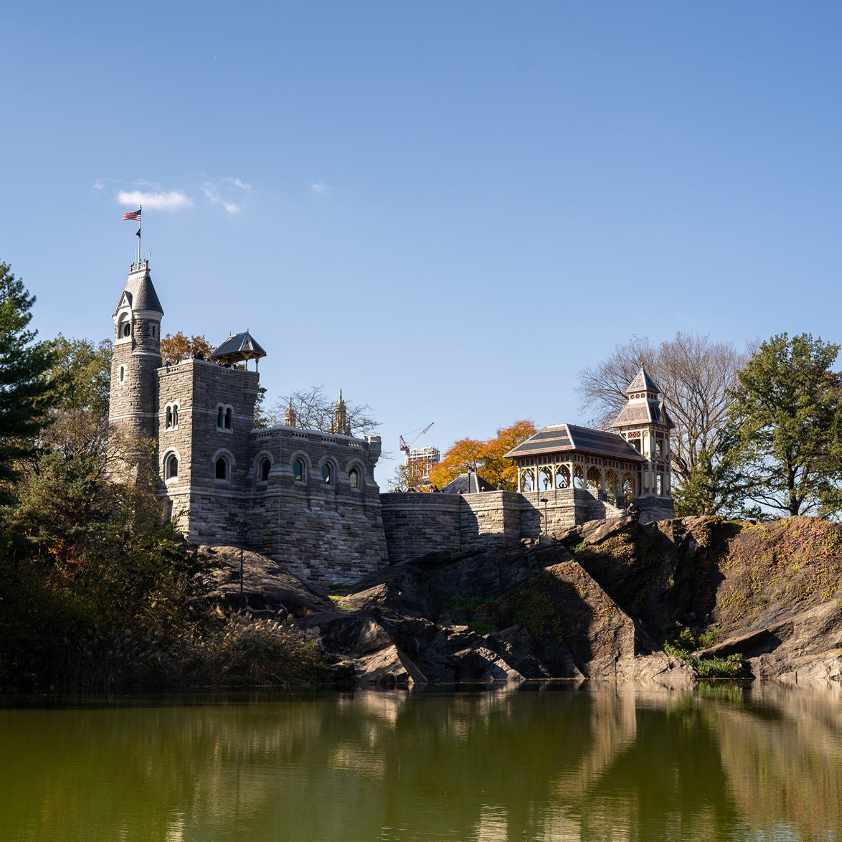 The Castle seen from the opposite shore of Turtle Pond