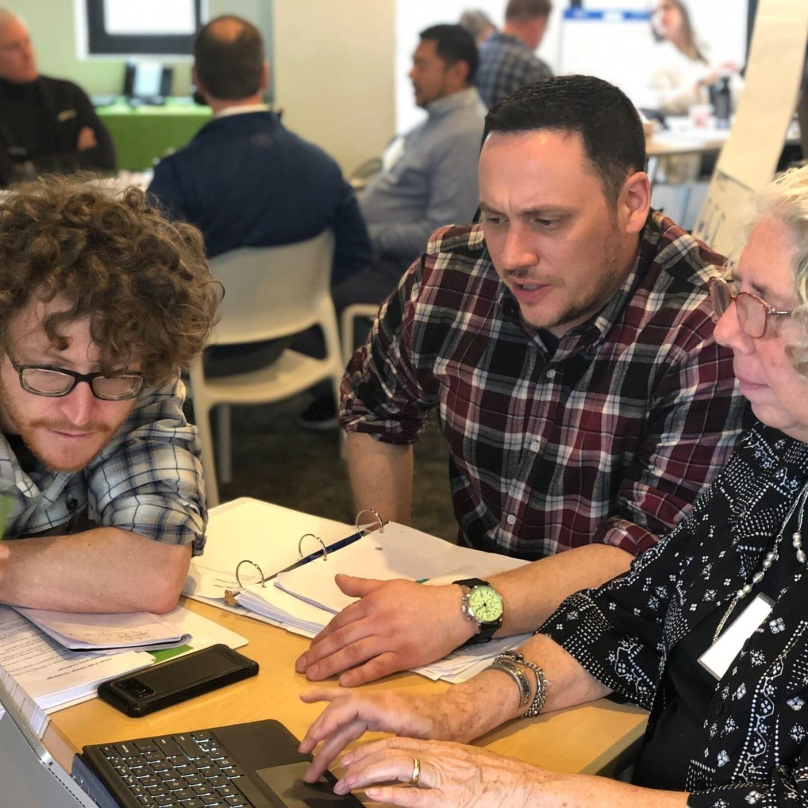Participants working toward their urban parks management certificate
