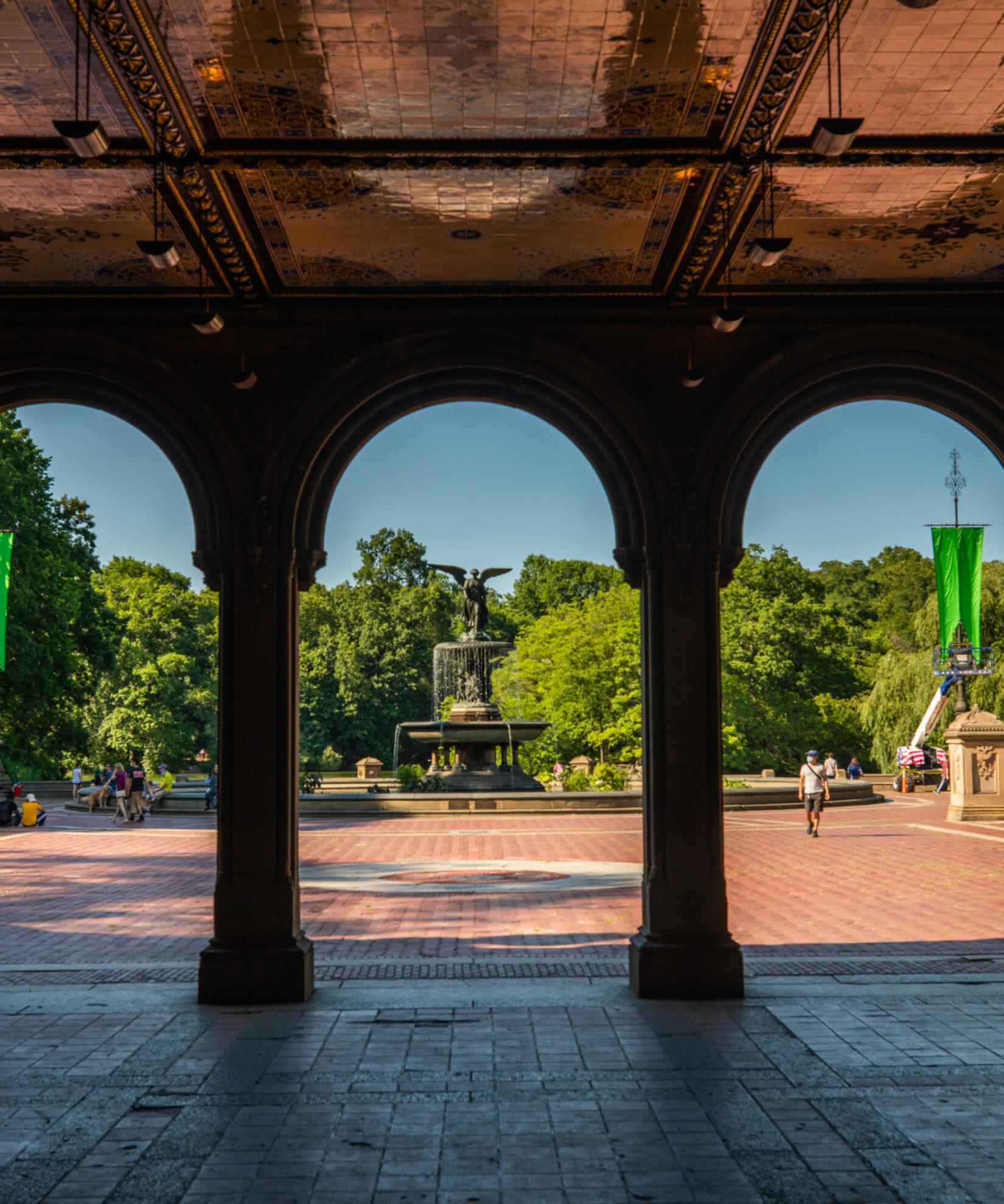 Bethesda arcade, looking out onto Bethesda Fountain