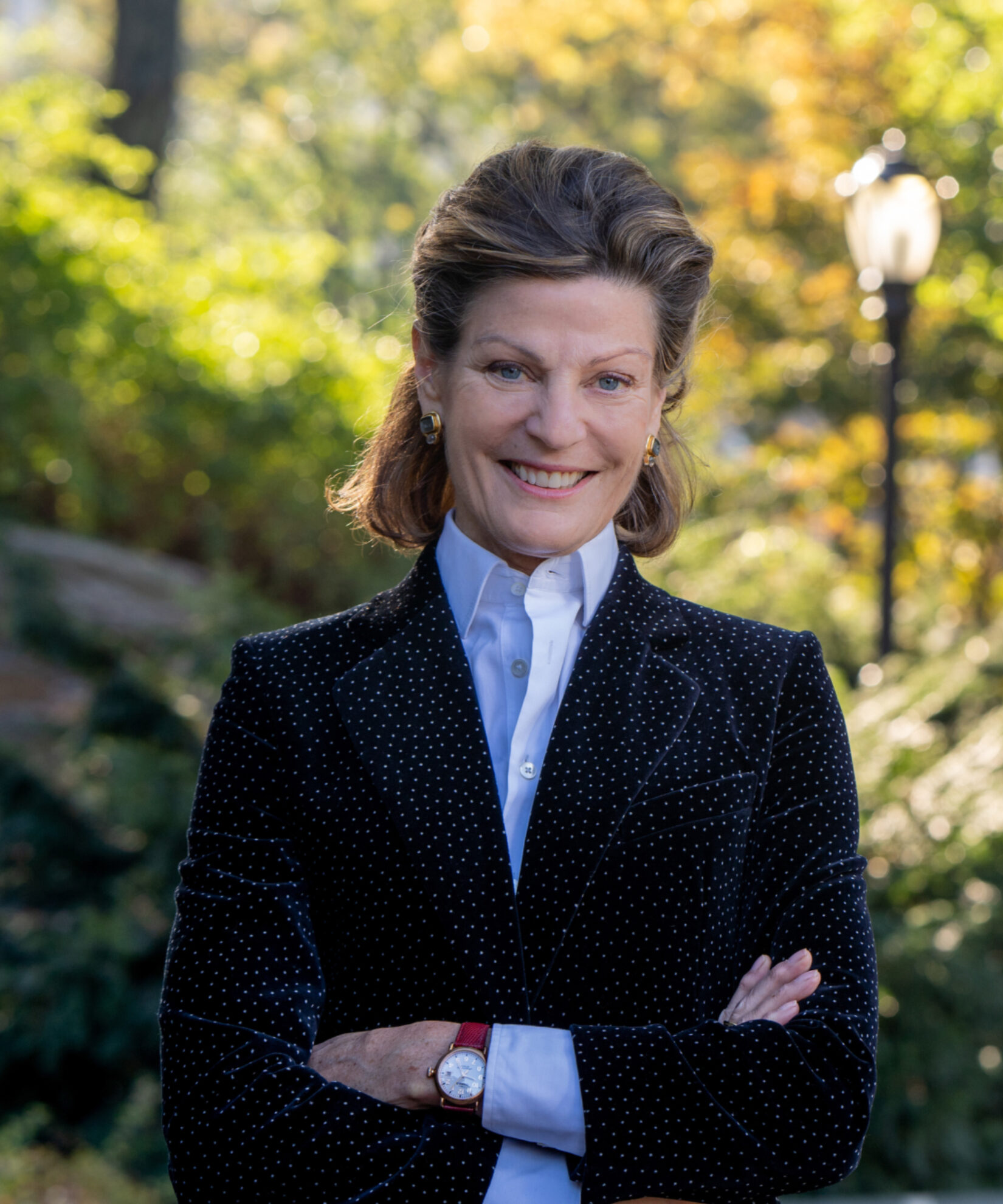 Betsy Smith pictured in the park in summer