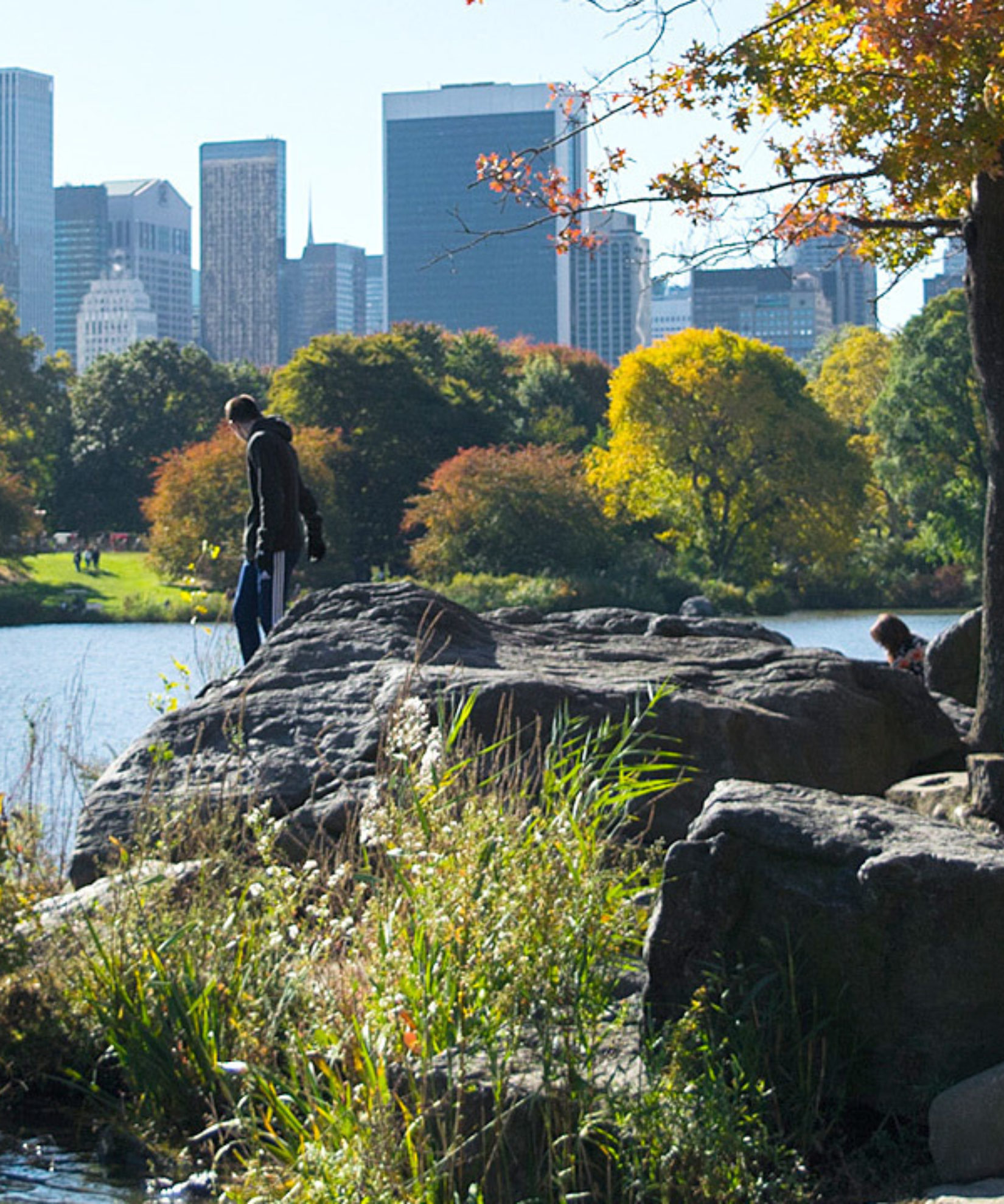 A view of Hernshead, with the NYC skyline in the background