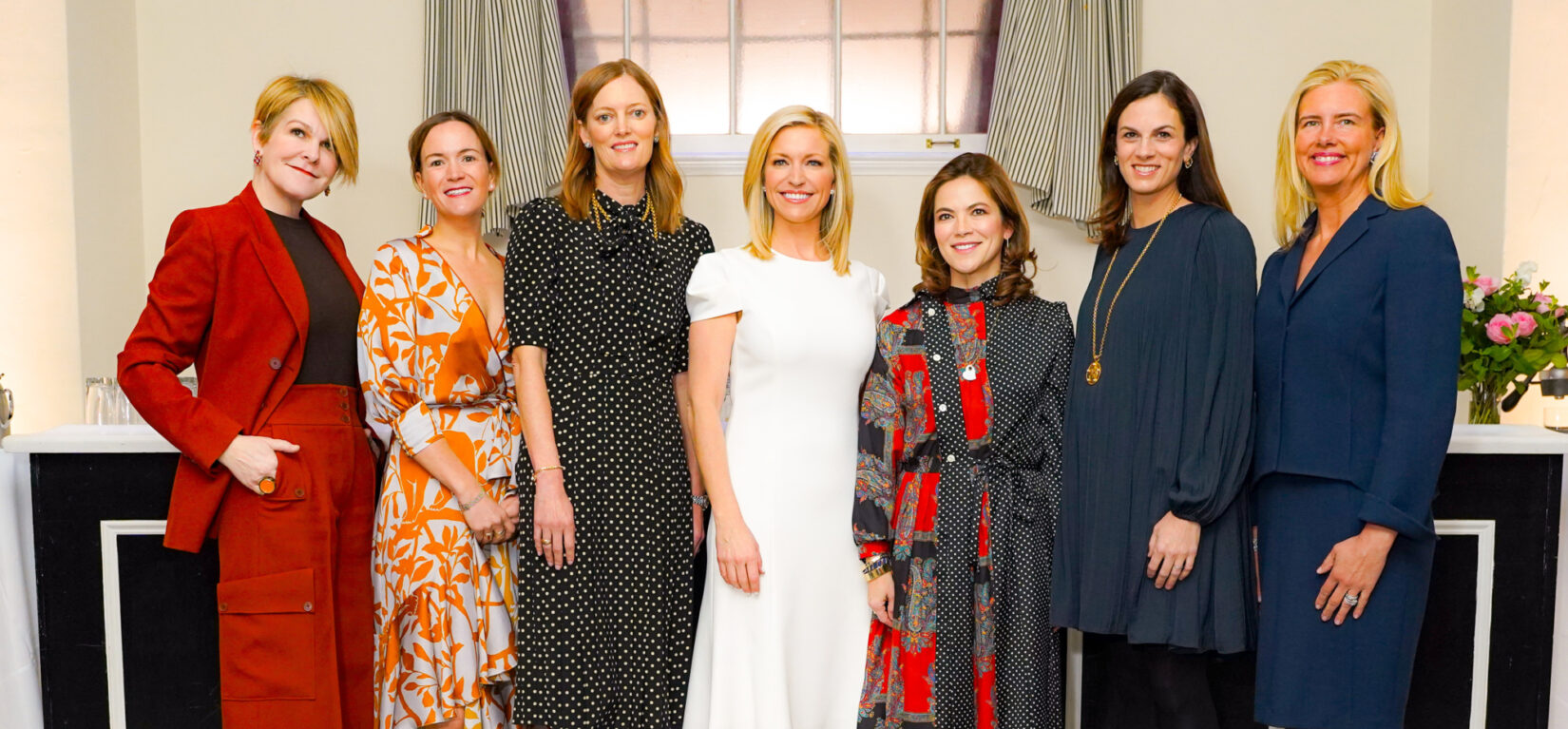 A group shot of the women leading the Playground Partners Galentine's Luncheon