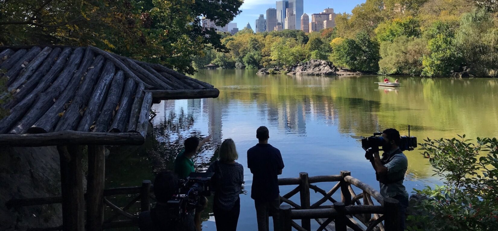 """""""Somebody Feed Phil"""" filming in Central Park"""