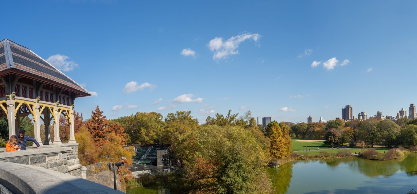 The view of the Great Lawn from the terrace of Belvedere Castle