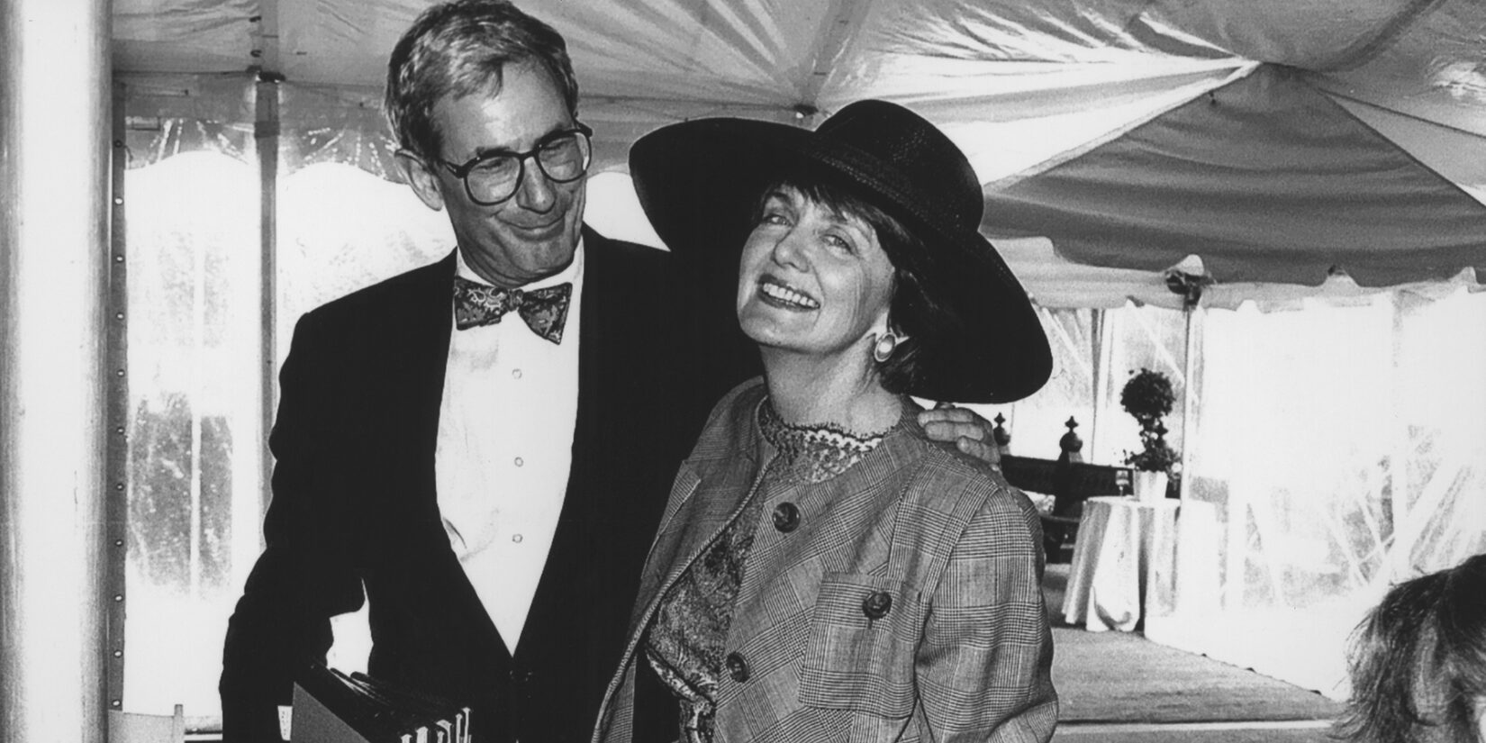 Black and white photo of Richard Gilder and Elizabeth Rogers