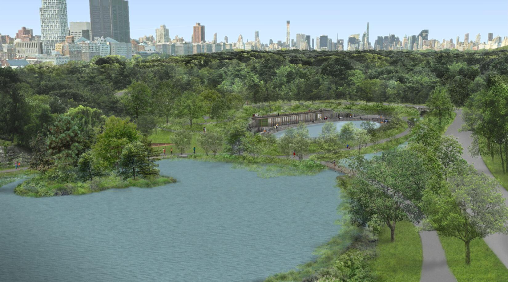 Harlem Meer Pool Rink Birdseye View