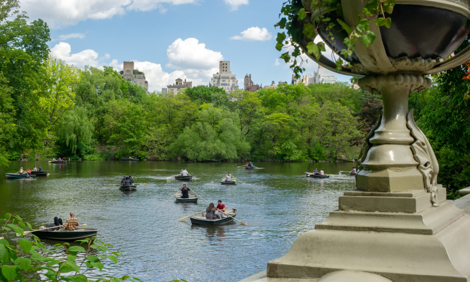 Rowboats on the Lake, viewed from Bethesda Terrace