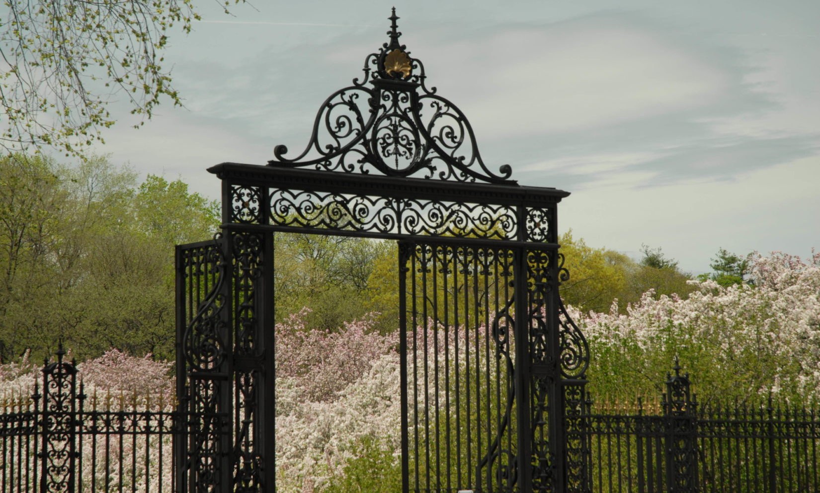 A view of the Vanderbilt Gates, found along the perimeter of Central Park