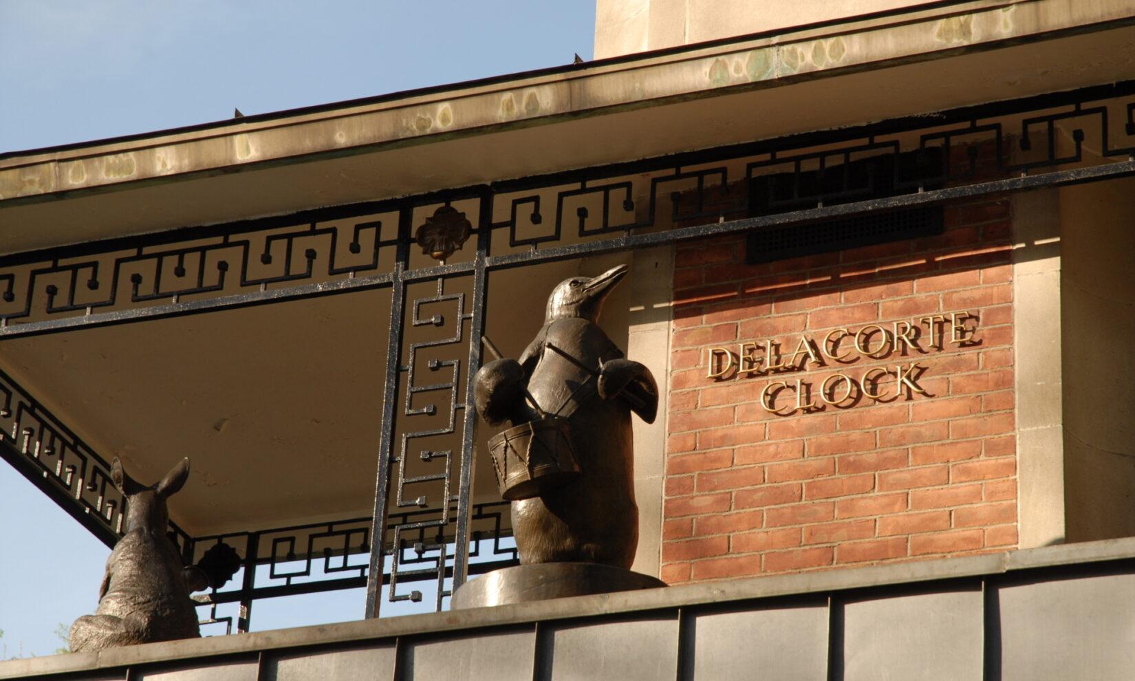 The penguins of the Delacorte Clock