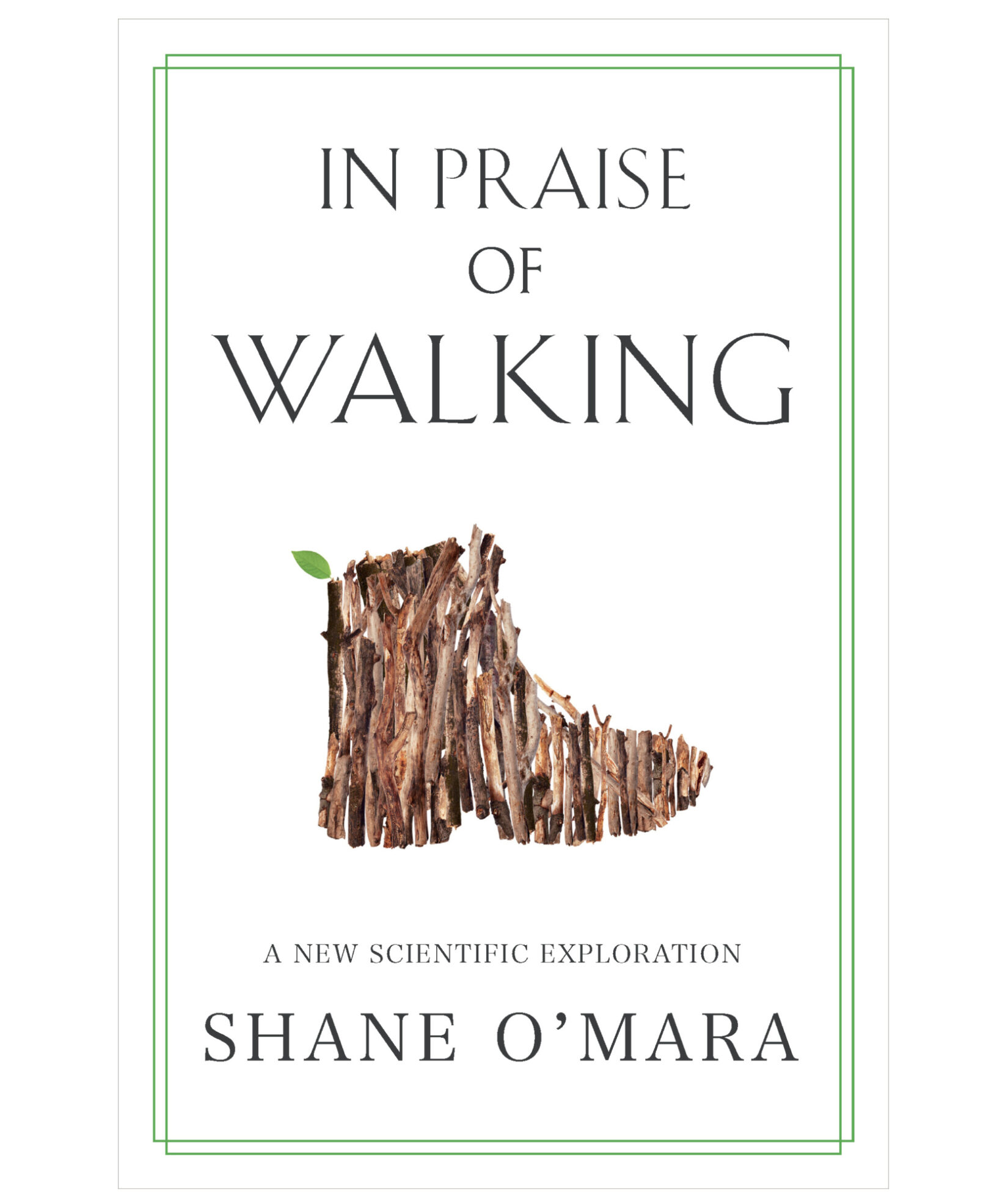 "The book jacket for ""In Praise of Walking,"" showing an illustration of a hiking boot."