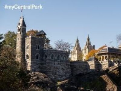 #myCentralPark Zoom background of Belvedere Castle