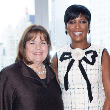 Tamron Hall is pictured with Ina Garten