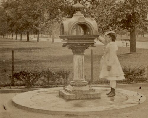 Drinking fountain historic photo Central Park
