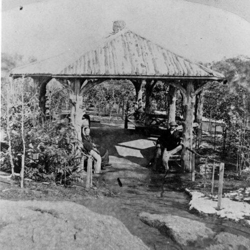 Old photo of the original Ramble Summerhouse