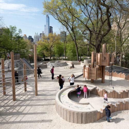 The playground after restoration