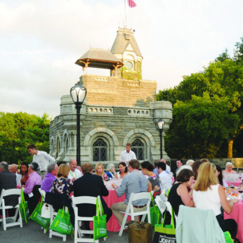 The event takes place on the plaza at Belvedere Castle